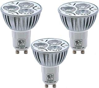 3 x Bombilla LED GU10 3W Foco Luz Blanco Frío AC 100V-240V