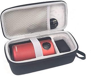 Esimen Hard Travel Case for Nebula Capsule Smart Mini Projector by Anker and Remote Control USB Flash Drive Accessories Ca...