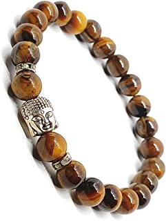 The Bling Stores Natural Tiger Eye With Unique Charms Bead Bracelets For Men And Women