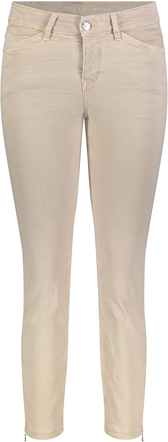 MAC Jeans Women's Dream Chic Straight Jeans Beige (Smooth Beige 214w)