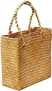 Rattan Tote Bag, Ladies Straw Bag, Handmade Straw Bag Straw Summer Handbag Handwoven Squre Rattan Bag for Summer Beach Travel