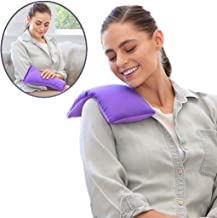 My Heating Pad Microwavable for Cramps and Lower Back Pain | Perfect Moist Heat Therapy Pack for Menstrual, Neck and Shoulder, Knee Relief | Reusable and Natural | Hot/Cold Weighted Compress (Purple)
