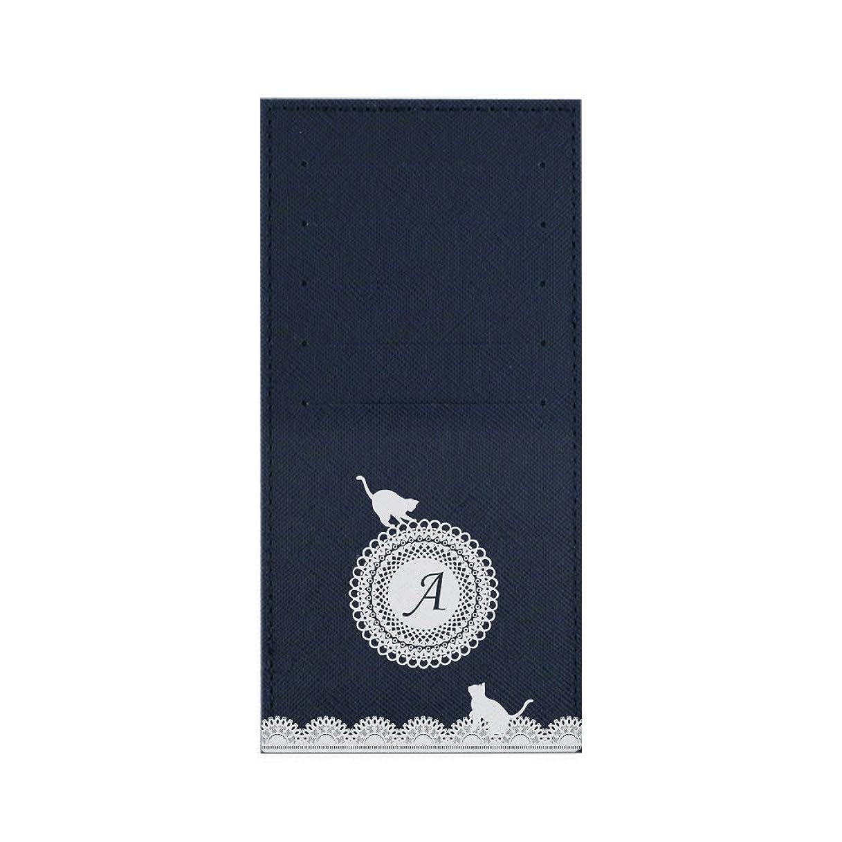 水陸両用買う汚いインナーカードケース 長財布用カードケース 10枚収納可能 カード入れ 収納 プレゼント ギフト 3005レースネーム (A) ネイビー mirai