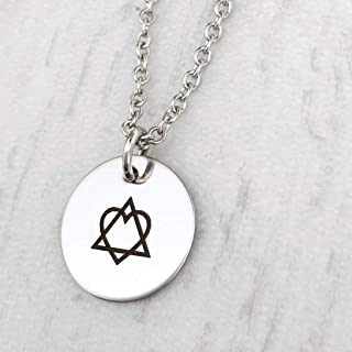Adoption Triad Symbol Necklace 18-inch Length