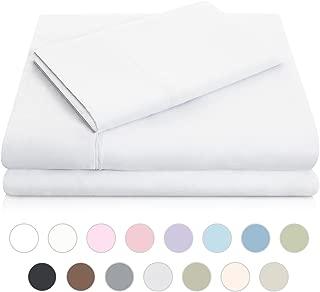 MALOUF Double Brushed Microfiber Super Soft Luxury Bed Sheet Set - Wrinkle Resistant - King Size - White
