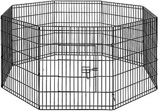 "30"" 8 Panel Pet Playpen Portable Exercise Cage Fence Dog Puppy Rabbit Enclosure"