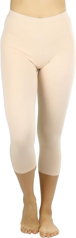 ToBeInStyle Max 71% OFF Women's Premium store Cotton Leggings Capri