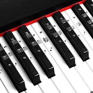 Piano Keyboard Notes Stickers 88/61/54/49/37 Keys Multi-Colo