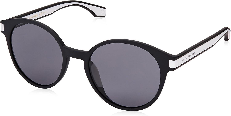 Marc Jacobs Marc287s Polarized Oval Sunglasses, Blck WHTE, 52 mm