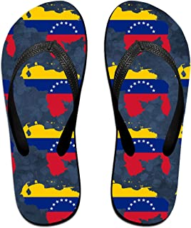 AA+ME Venezuela Map Flag Comfortable Men Women Summer Beach Sandals Shower Flip-Flops Slippers