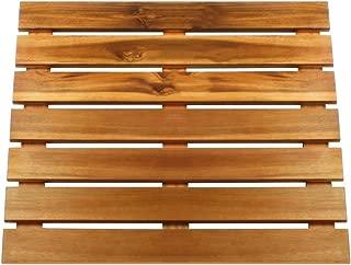 Villa Acacia Wooden Bath Mat and Wood Shower Mat, Extra Large 24