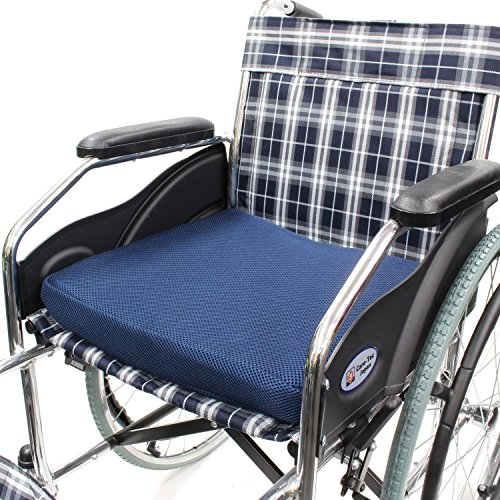 ケアテックジャパン車椅子専用設計クッションGA-1(ネイビー)