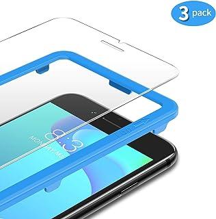 TAMOWA [3-pack skärmskydd för iPhone 8/iPhone 7, 2,5D premium härdat glas 9H skottsäker film med installationsram, fodralv...