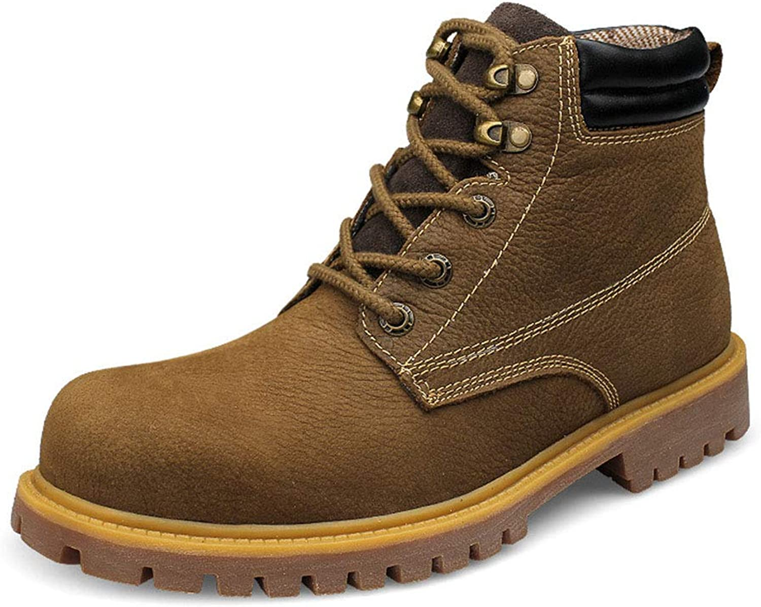 Men's Boots, Outdoor High-Top Tooling Martin Boots Winter New Lace-Up Casual Non Slip Boots Booties,B,45