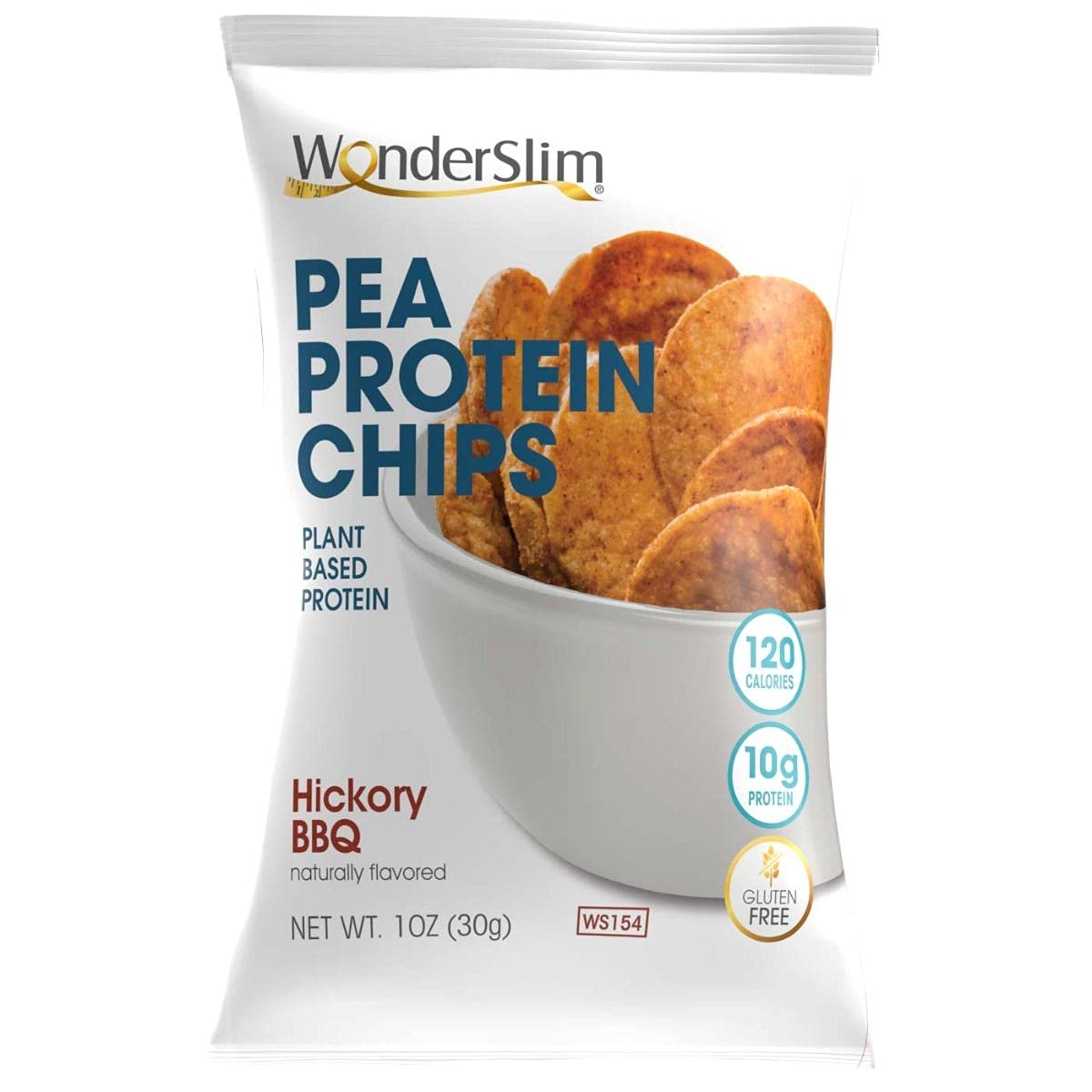 WonderSlim Pea Excellence Protein Ranking TOP13 Snack Chips Pack Value Hickory BBQ 10ct