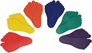 American Educational 6 Pairs Assorted Colors Poly Vinyl Feet Markers Set