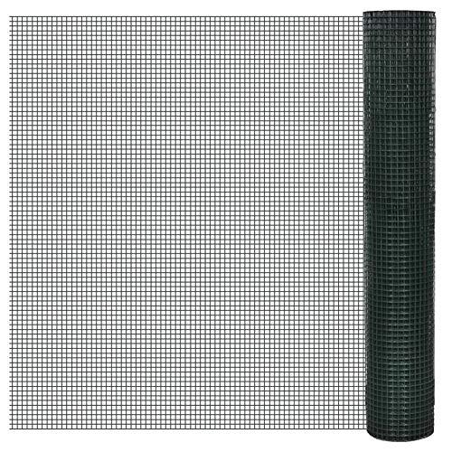 Malla Electrosoldada Galvanizada 12 x 12 mm,Rollo 25 Metros Uso Domestico