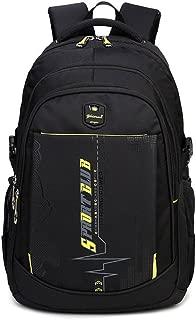 ADJOY9 Laptop Backpack Travel Rucksack Multipurpose Packsack Notebook School Bag - Yellow