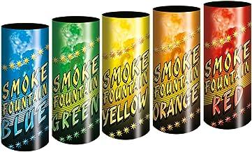5 Stück h2i Color Mix Bengalo Rauch Vulkan Fontäne Party Feuerwerk Rauchfarbe blau grün orange gelb rot/Ganzjahresfeuerwerk Kat T1/ F1