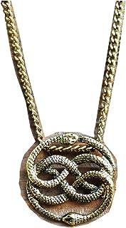 NeverEnding Story Antique Bronze Necklace, Auryn Necklace, Long or Choker, Never Ending Story Snake Pendant, Snake Circle,...