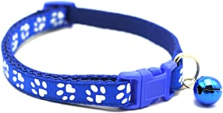 Mumoo Bear Adjustable Cat Collar Pet Collar with Removable bell for Cats Small Dogs Blue