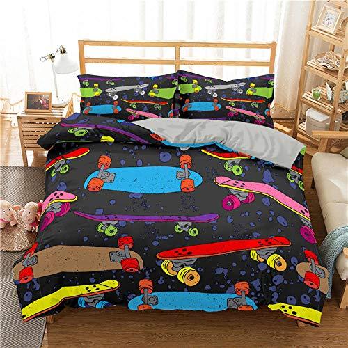 Bedclothes-Blanket Funda nórdica 3D Lila,Cubierta de la Colcha de impresión 3D de la Scooter de Cama de Tres Piezas-2_228 * 228cm