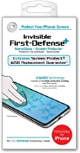 Qmadix $250 Replacement Guarantee Invisible First-Defense NANOGlass Screen Protector formulated for Apple iPhone 11 Pro Max, 11 Pro, 11, Xs Max, Xs, XR, X, 8/8 Plus, 7/7 Plus
