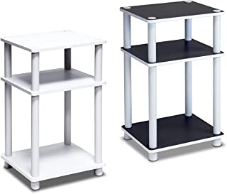 FURINNO 11087WH(EX)/WH Just 3-Tier End Table, 1-Pack, White/White