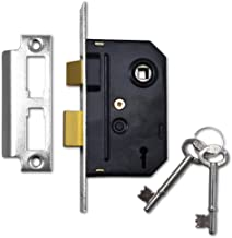Union Locks 2295 insteek-voorruitslot met 2 vergrendelingen, 63 mm, oppervlak met chromen afwerking, in blisterverpakking