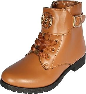 bebe Girls Combat Boots with Metallic Print (Toddler/Little Kid/Big Kid)