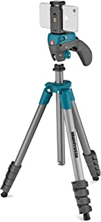 Manfrotto Compact Action Smart Aluminum 5-Section Tripod Kit with Hybrid Head and Phone Clamp, Blue (MKSCOMPACTACNBL), Compact Action 61