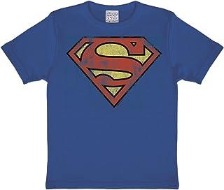 Logoshirt DC Comics - Superman Logotipo Camiseta para niño - T-Shirt para niño - Azul Medio - Diseño Original con Licencia