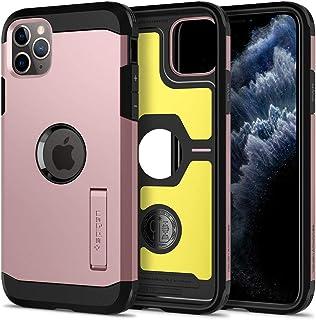 غطاء حماية متين لهاتف ايفون 11 برو ماكس من سبيجين اصدار 2019 لون ذهبي وردي