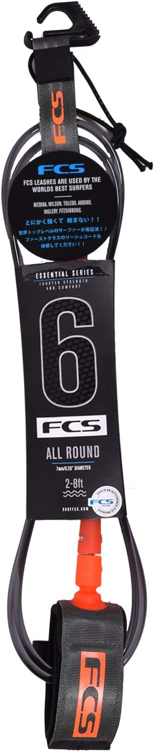 FCS All Around Surfboard Leash New York Mall 6' - Charcoal Orange Max 86% OFF Blood