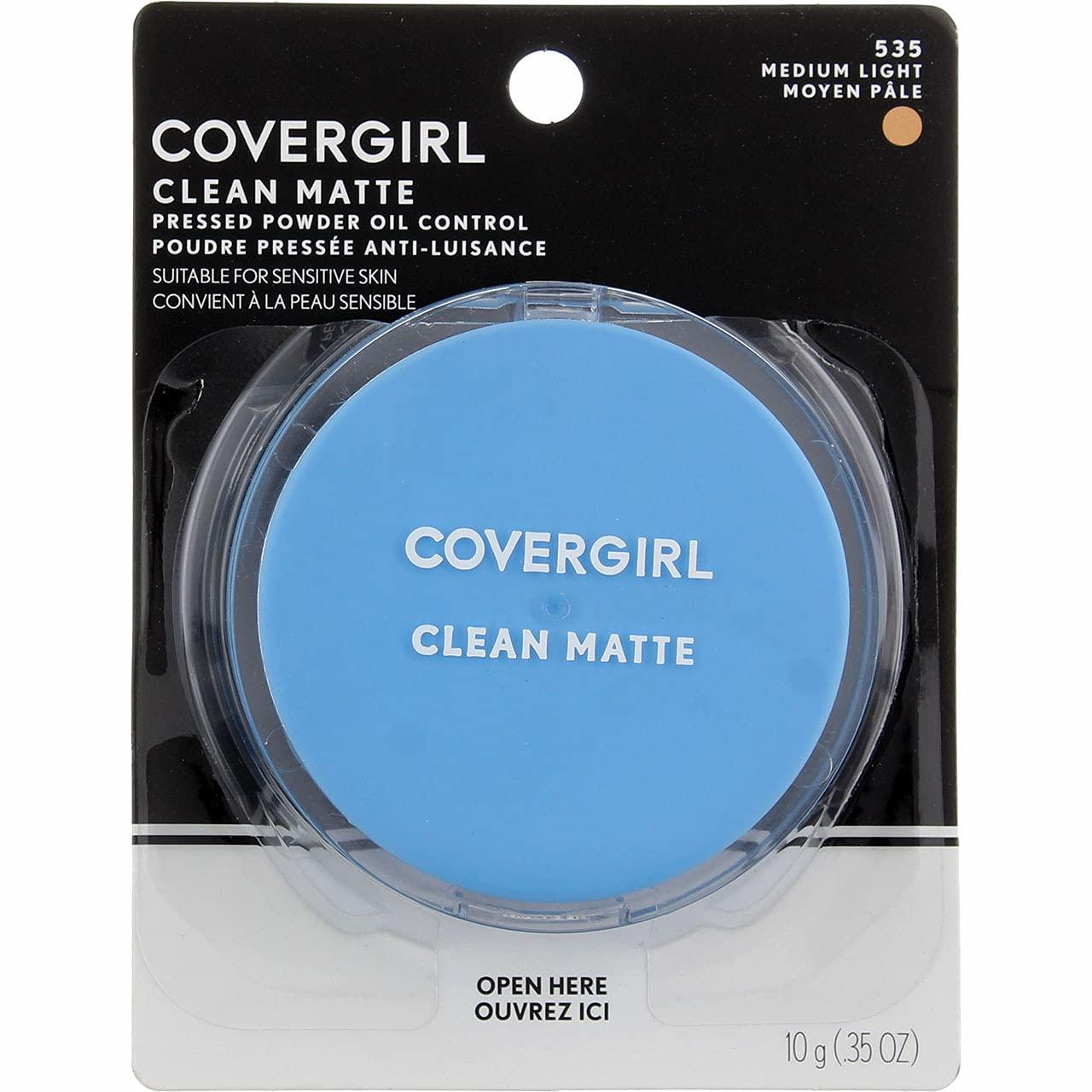 COVERGIRL Clean Matte Pressed Omaha Mall Powder 0.35 Oz Medium 535 Light Regular dealer