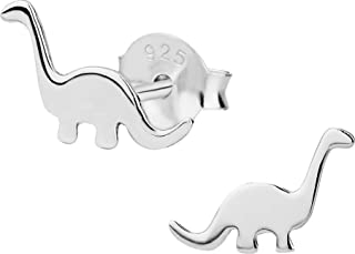Hypoallergenic Sterling Silver Little Dinosaur Stud Earrings for Kids (Nickel Free)