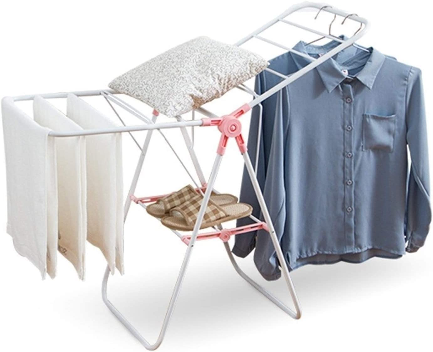 Clothes Drying Rack for Laundry Stainless Cheap mail order specialty Elegant store Airer 2-Tier