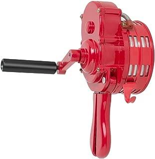 Enshey 110±2 db Base Mount Metal Hand Crank Siren-Emergency Air Raid Warning Device Operated Air Raid Alarm Handheld Siren