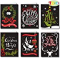 "72 Piece Holiday Christmas Greeting Cards with 6 Artistic Greeting Designs & Envelopes 6.25"" x 4.6"" for Winter Christmas Season, Holiday Gift Giving, Xmas Gifts Cards."
