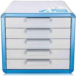 KANJJ-YU En alliage d'aluminium de stockage Tiroirs bureau Rangement Organisateur tiroir verrouillable Sorter A4 Box for O...