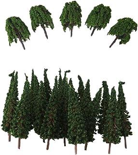 100x mörkgröna träd Modelltåg Järnväg Park Street Scenery HO Scale
