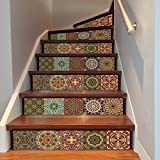 QTZS Azulejos 3D Creativos Árabe Escaleras Pegatina
