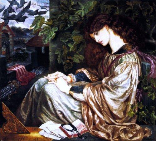 """Art Oyster Dante Gabriel Rossetti La Pia de' Tolomei - 20"""" x 25"""" Premium Canvas Print"""