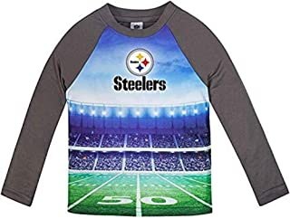 Pittsburgh Steelers Toddler Boys Performance Tee-Shirt Size (Gray, 4T)