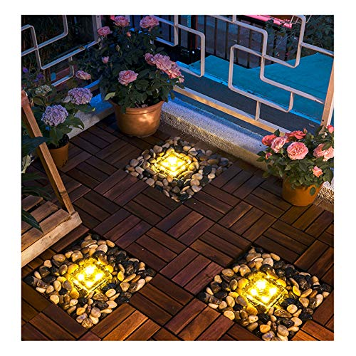 YYYY LED Solar Lights, Outdoor Garden Decoration Floor Lights, Waterproof Landscape Decoration Street Lights, Floor Tile Lights, for Outdoor Outdoor Christmas Decoration A