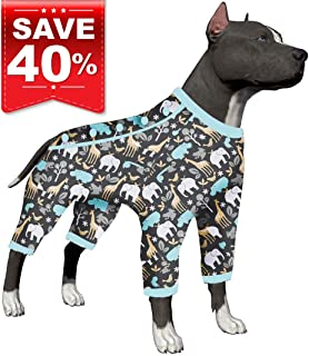 LovinPet Large Dog Clothes, Hippos Zoo Cozy Dog Pajamas, Slim fit, Lightweight Pullover Pajamas/Full Coverage Dog pjs/Please REASE Size Chart Before Ordering