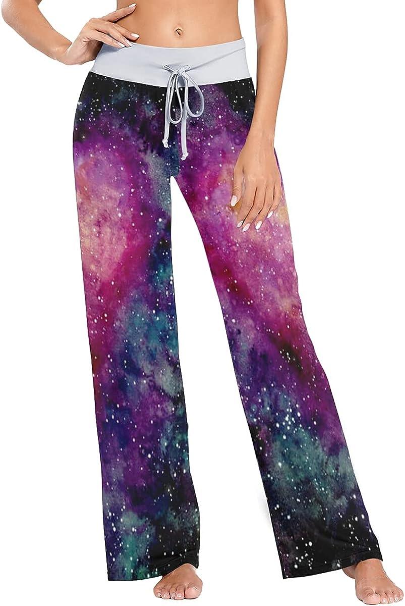 QUZtww Heart Shaped Universe Pajama Fashionable Regular dealer Sleep Pants Stretch Trousers