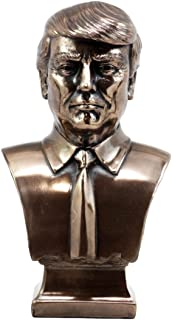 Ebros Gift Bronzed Resin USA President Donald J Trump Bust Figurine 2017 US Presidential Republican Party Elect Make America Great Again