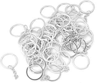 Generic Silver Plated Alloy Split Keyring With Chains 25Mm - 15017738MG - 50 Pcs