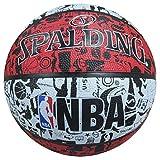 Spalding, Graffiti, Pallone da Basket, Unisex, 3001550000000, Rosso/Nero/Bianco, Taglia 7